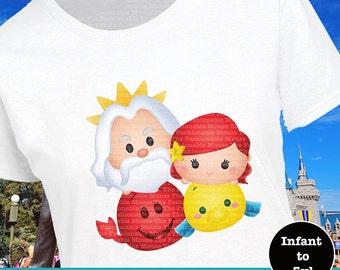 Little Mermaid Shirt, Ariel Tsum Tsum Shirt, Little Mermaid Tsum Tsum Stack Shirt, King Triton Shirt, Sebastian Shirt, Flounder Shirt