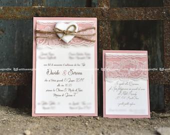 Shabby Chic invitations (10 PCs)