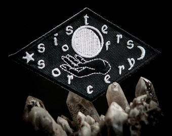 Sisters of Sorcery Black and White Embroidered Patch