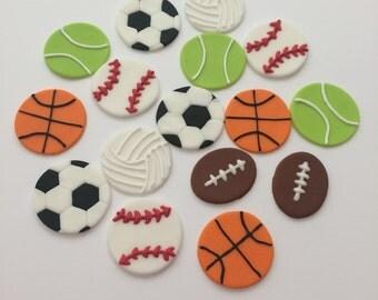 Sports Balls Cupcake Topper