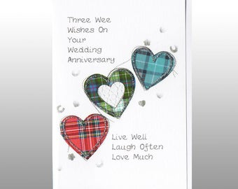 Anniversary Three Hearts Card WWWE42
