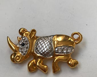 Vintage animal brooch