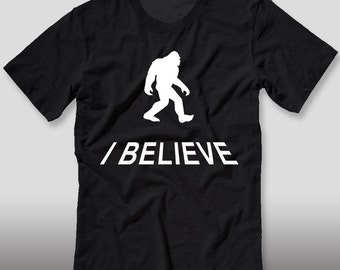 I believe in bigfoot shirt tee t sasquatch yeti hunt for bigfoot shirt