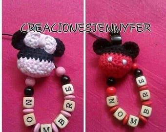 Chupeteroo crochet micky & minnie