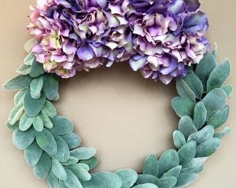 Spring Wreath, Hydrangea