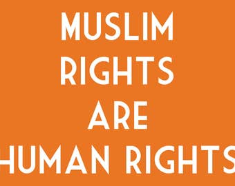 Muslim Rights Are Human Rights Women's March Post Card