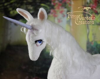 Unicorn - needle felted wool - inspired by the film the last Unicorn - (pre-order! - not in stock - is extra made)