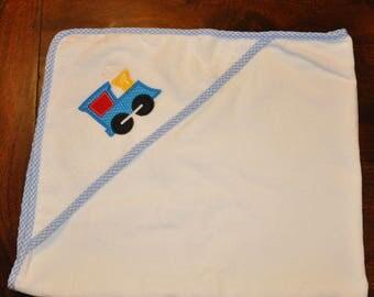 Train Hooded Bath Towel