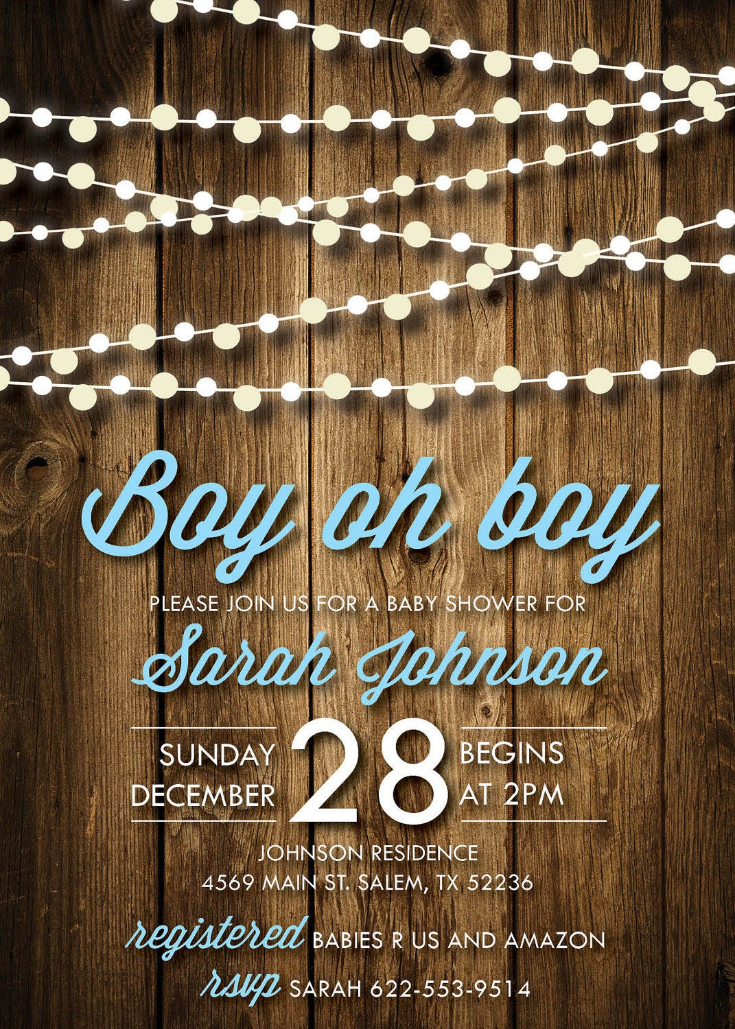 Baby Shower Invitations | Boy oh boy Baby Shower | Co-ed Baby Shower ...