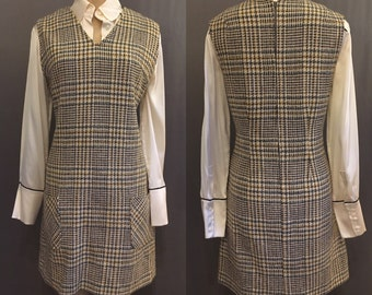 60's Houndstooth Jumper with Pockets