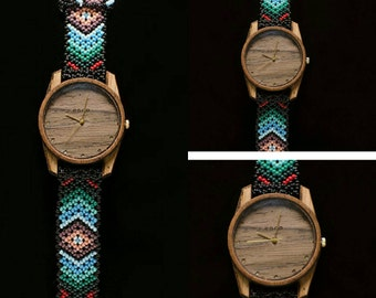 Huichol and wood watch