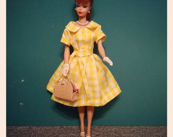 Yellow spring dress for Barbie
