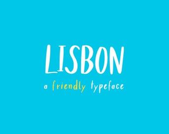 Lisbon - a friendly typeface   Handwritten Brush Font