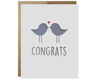 Lovebirds Congratulations Card Wedding Engagement