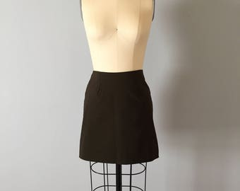 deep forest green mini skirt | 90s ultra mini skirt