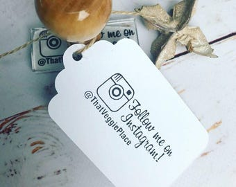 INSTAGRAM STAMP , personalised, social media, Follow Me on Instagram Rubber Stamp. Business Card, rubber stamp