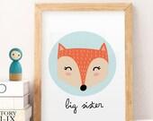 SALE big sister printable, printable wall art, big sister wall decor, big sis download, sister wall art, sister gift idea, sister decor, APF