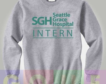 Grey's Anatomy Sweatshirt Greys Anatomy Sweater SGH Seattle Grace Hospital Intern