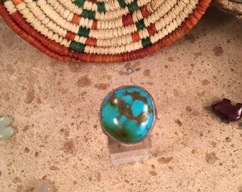 Vintage Navajo Turquoise and Sterling Silver Ring Size 5.5