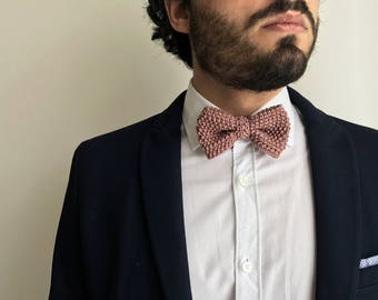 Charlie Bowtie | Knitting pure cotton bow tie totally handmade | Perfect gift for man