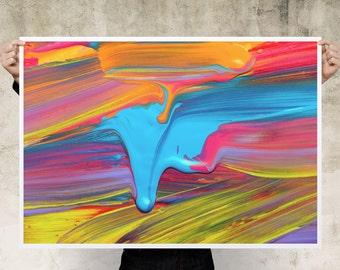 Watercolour Abstract Art Print