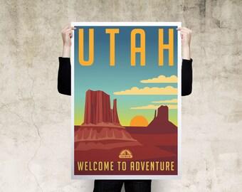 Utah Travel Poster