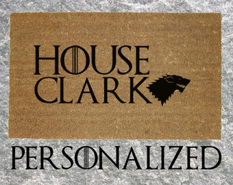 Custom Personalized Game of Thrones House Doormat