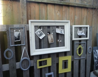 vintage picture frames set, shabby chic, wall frames,