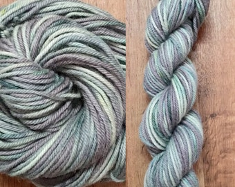 Wool BULKY wool and alpaca hand dyed