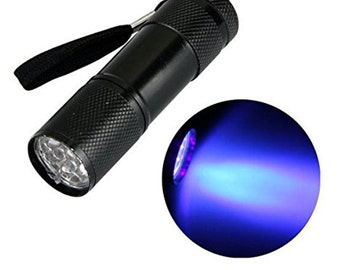 ACENIX® 9 Led UV Curing Torch Compatible with iPhone 5 5s 6 7 Samsung S7 S6 S5 S4 S3 HTC