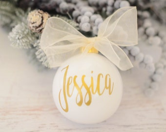 Personalized name ornament, Christmas gift, Secret Santa present, Christmas ornament, Holiday Gift, Christmas present, Name Ornament