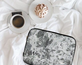 Cloudy Grey Marble, Marble Print, Marble Design, Neoprene Laptop Sleeve, MacBook Case, Laptop Case, Carry Case, Laptop Bag \ ls-pp076