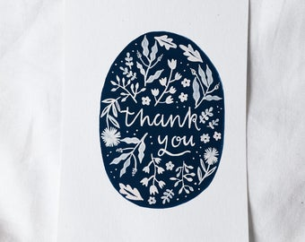 Hand painted thank you cards