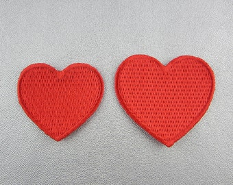 Red Heart Patch, Iron On Patch, Embroidery Love Heart