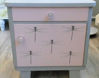 Playful night Cabinet vintage country style