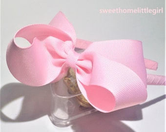 light Pink bow,blue bow,bows,plastic headband,little girl headband,bows headband