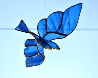 Magic Bird stained glass suncatcher