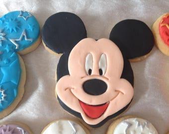 Biscuits: Disney Mickey Mouse Butter Biscuits With Decorative Fondant Toppers