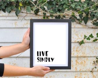 Live Simply • Digital Download