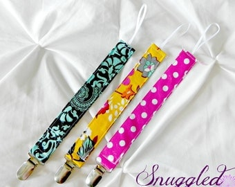 Bright Boho Pacifier Clips
