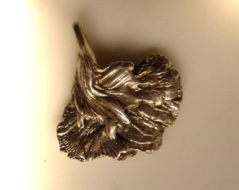 Delicate pendant Leaf Sterling Silver 16 mmUNIKAT