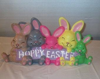 5 ceramic bisque Easter bunnies
