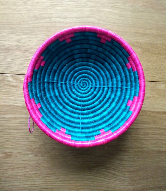 African Woven Baskets: Woven Basket // Rwandan Basket // African Basket // Fruit Bowl