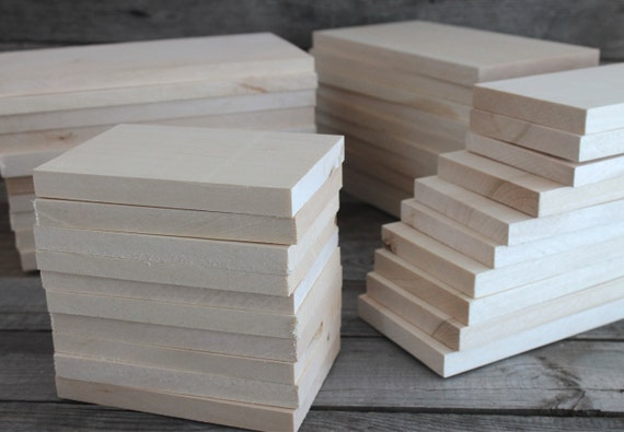 Set of 10 wood blank for wood carving wooden planks wooden for Plank blocks