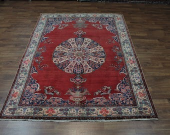 Stunning Large S Antique Handmade Birjand Persian Rug Oriental Area Carpet 8X12