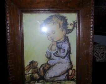 """Vintage Donald Art Co. NY Printing ~ DAC NY ~ """"Bedtime Prayers"""""""