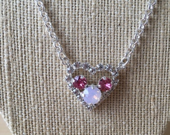 Swarovski Crystal Filled Heart Necklace