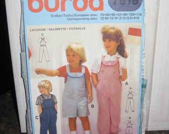 Boss Burda 7919 bib short or long children VINTAGE