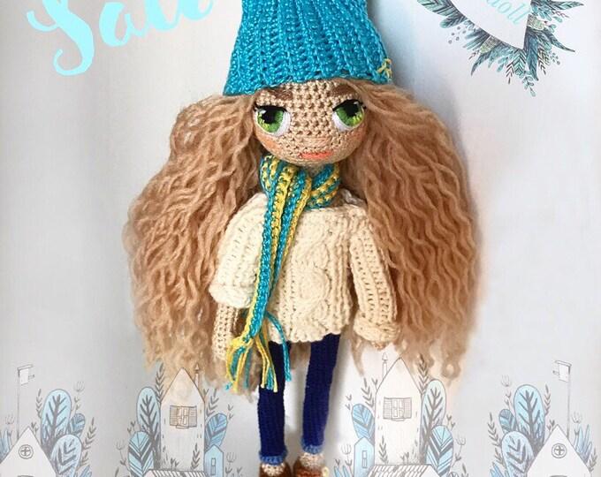 Crochet doll-amigurumi doll-interior doll