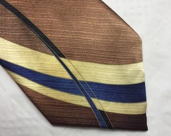 Vintage Christina D'or hand made silk tie